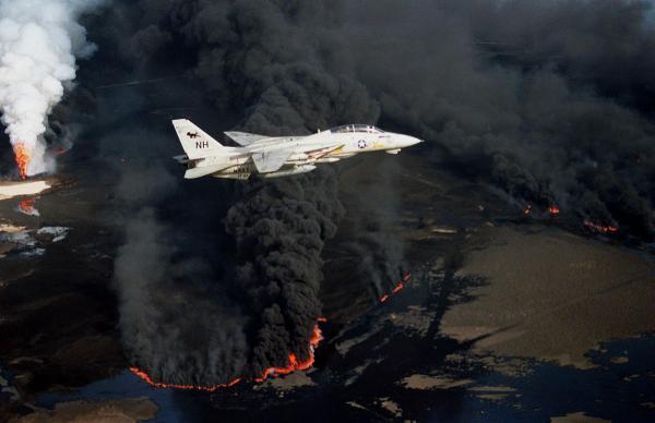 7 desastres naturales causados por el hombre - Incendios de petróleo en Kuwait