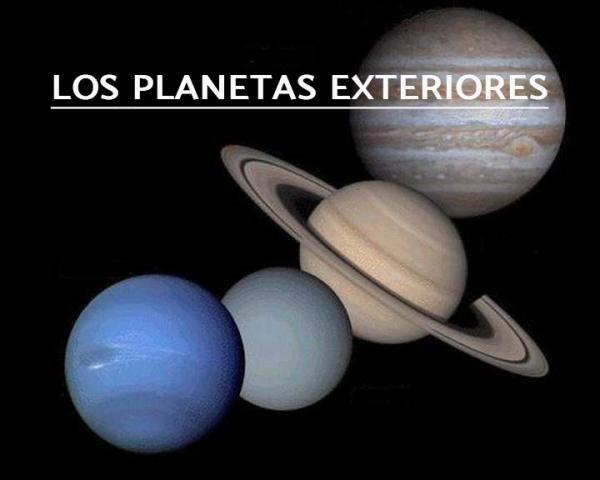 Planetas interiores y exteriores del sistema solar: características y diferencias - Planetas exteriores: características y ejemplos