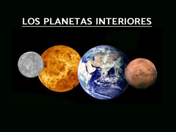 Planetas interiores y exteriores del sistema solar: características y diferencias - Planetas interiores: características y ejemplos