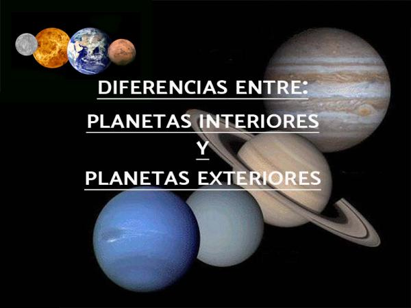 Planetas interiores y exteriores del sistema solar: características y diferencias - Planetas interiores y exteriores: diferencias