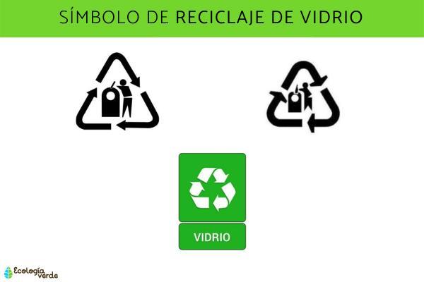 Símbolos del reciclaje y su significado - Símbolo del reciclaje de vidrio