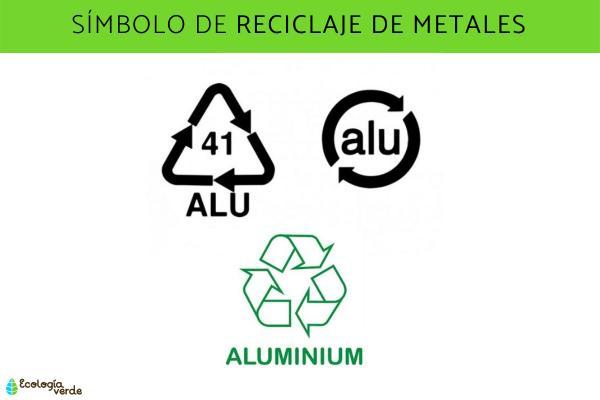 Símbolos del reciclaje y su significado - Símbolos del reciclaje de metales