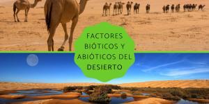 Factores bióticos y abióticos del desierto