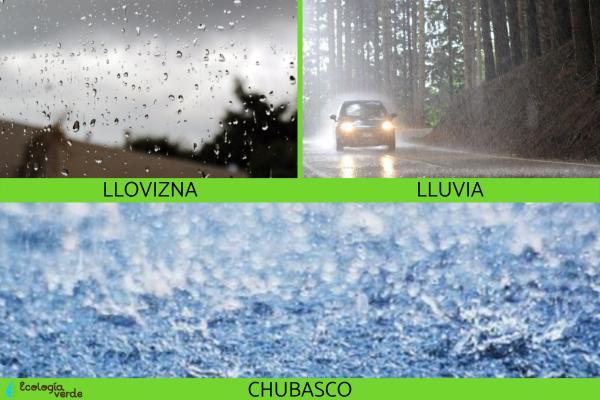 Tipos de precipitaciones - Tipos de precipitación según la forma de manifestación