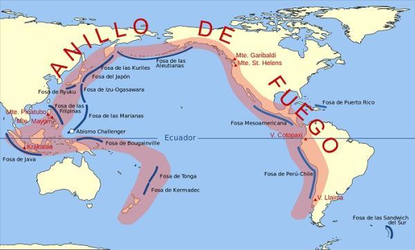 Regiones volcánicas y sísmicas del mundo - Principales regiones volcánicas del mundo