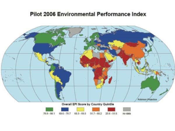 Indicadores ambientales: qué son, tipos y ejemplos - Índice de desempeño ambiental (EPI)