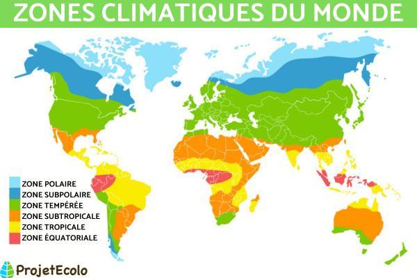 Les climats dans le monde - Quels sont les différents climats dans le monde ?