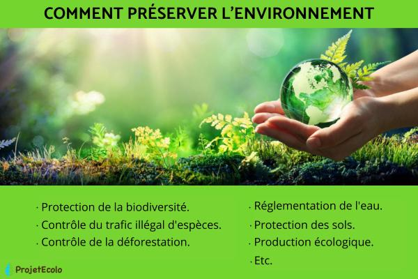 Comment préserver l'environnement - Action de l'homme sur la biodiversité